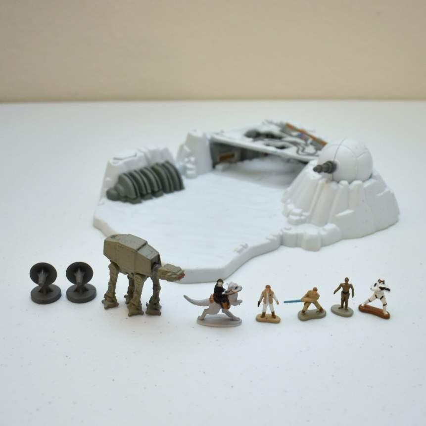 Vintage STAR WARS Hoth Micromachine Set
