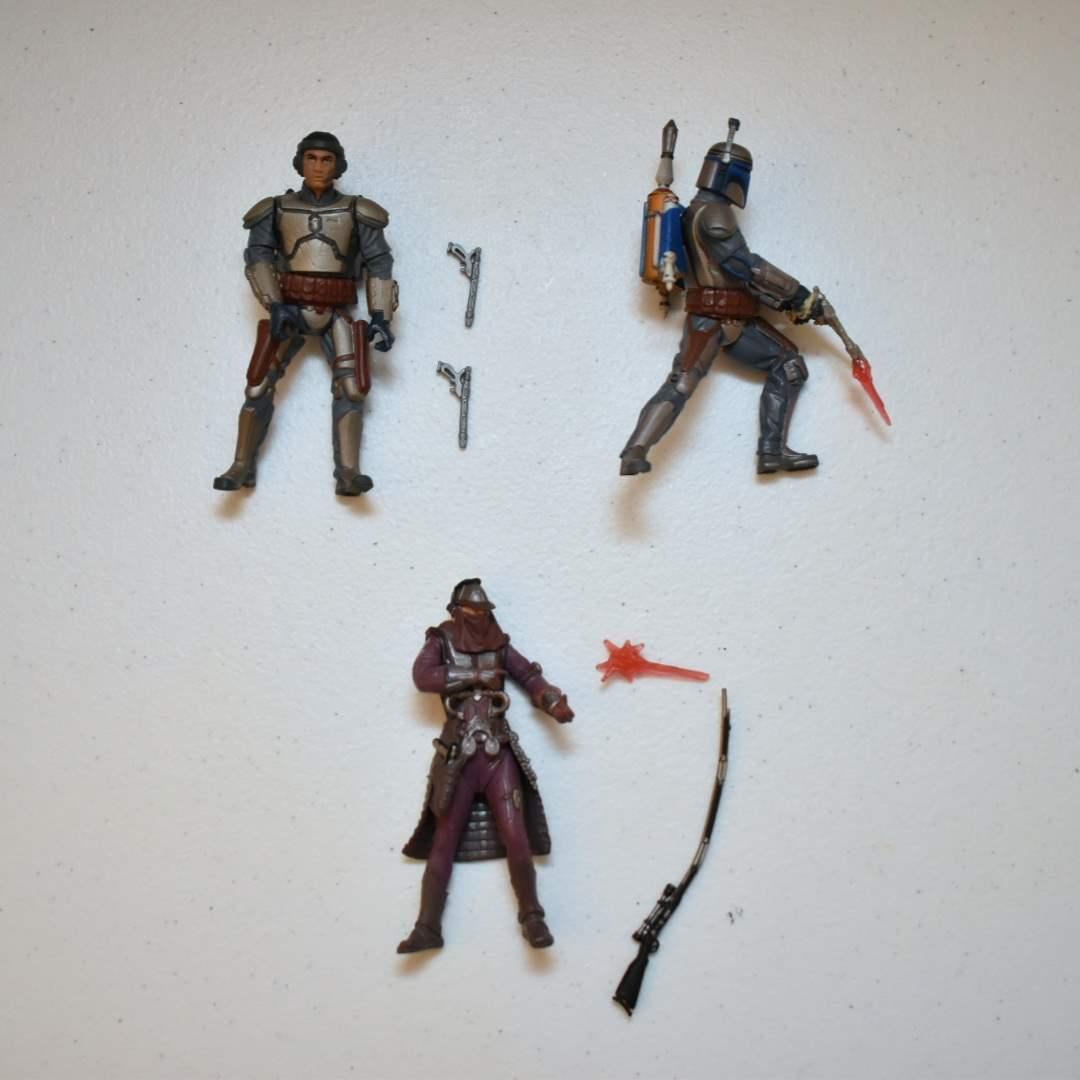 Vintage STAR WARS Bounty Hunters including Boba & Jango Fett