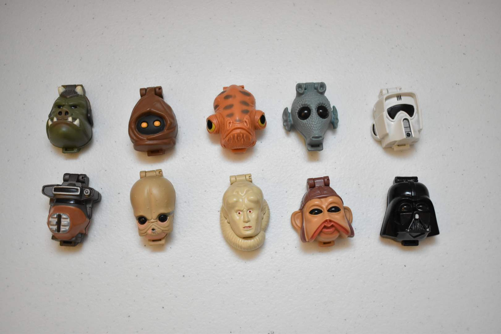Vintage (10) STAR WARS Micromachine Heads with Figures