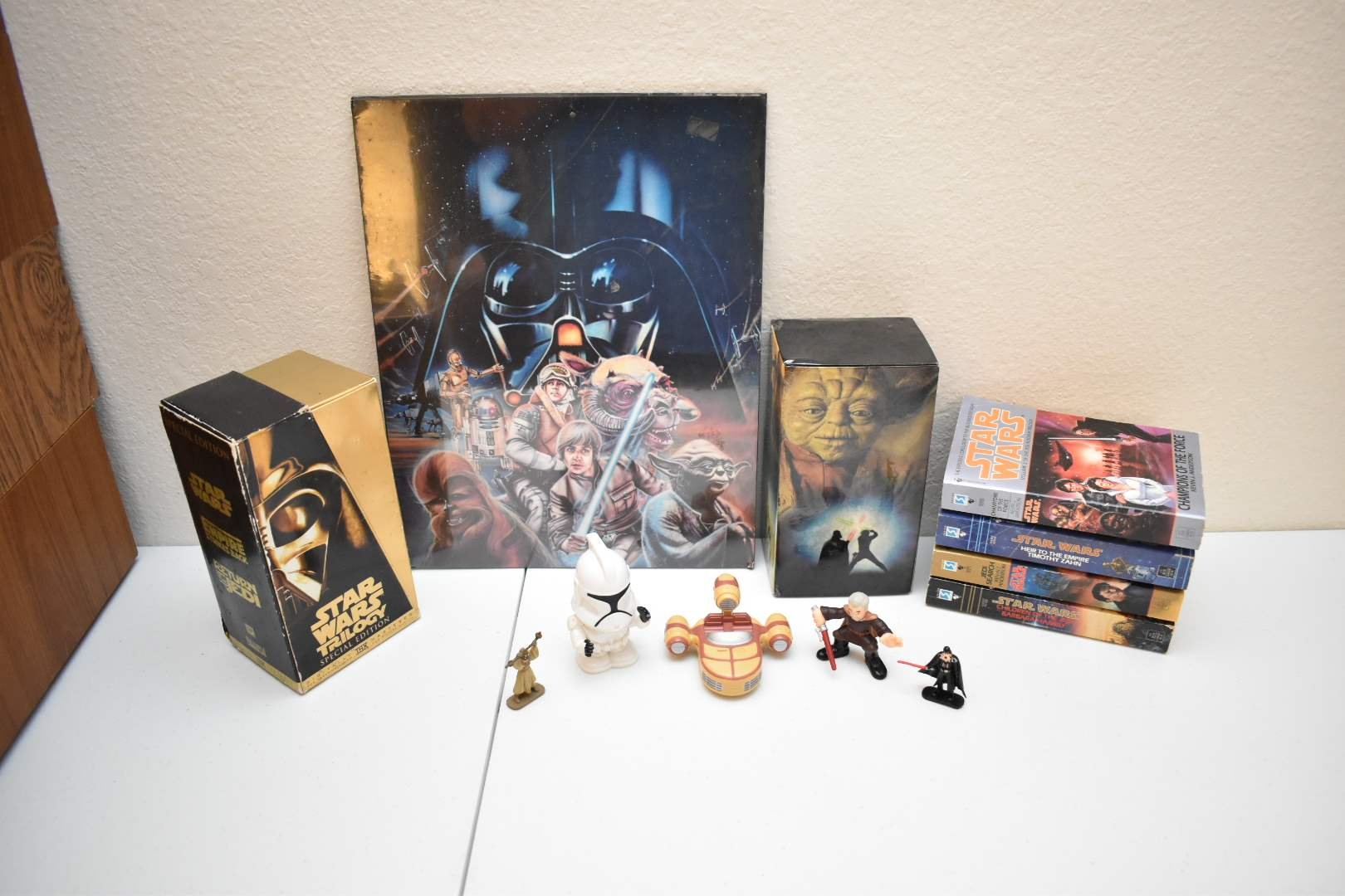 Vintage Misc STAR WARS Stuff: (2) Special Ed. Box sets, Darth Goofy, Books, Vintage Picture
