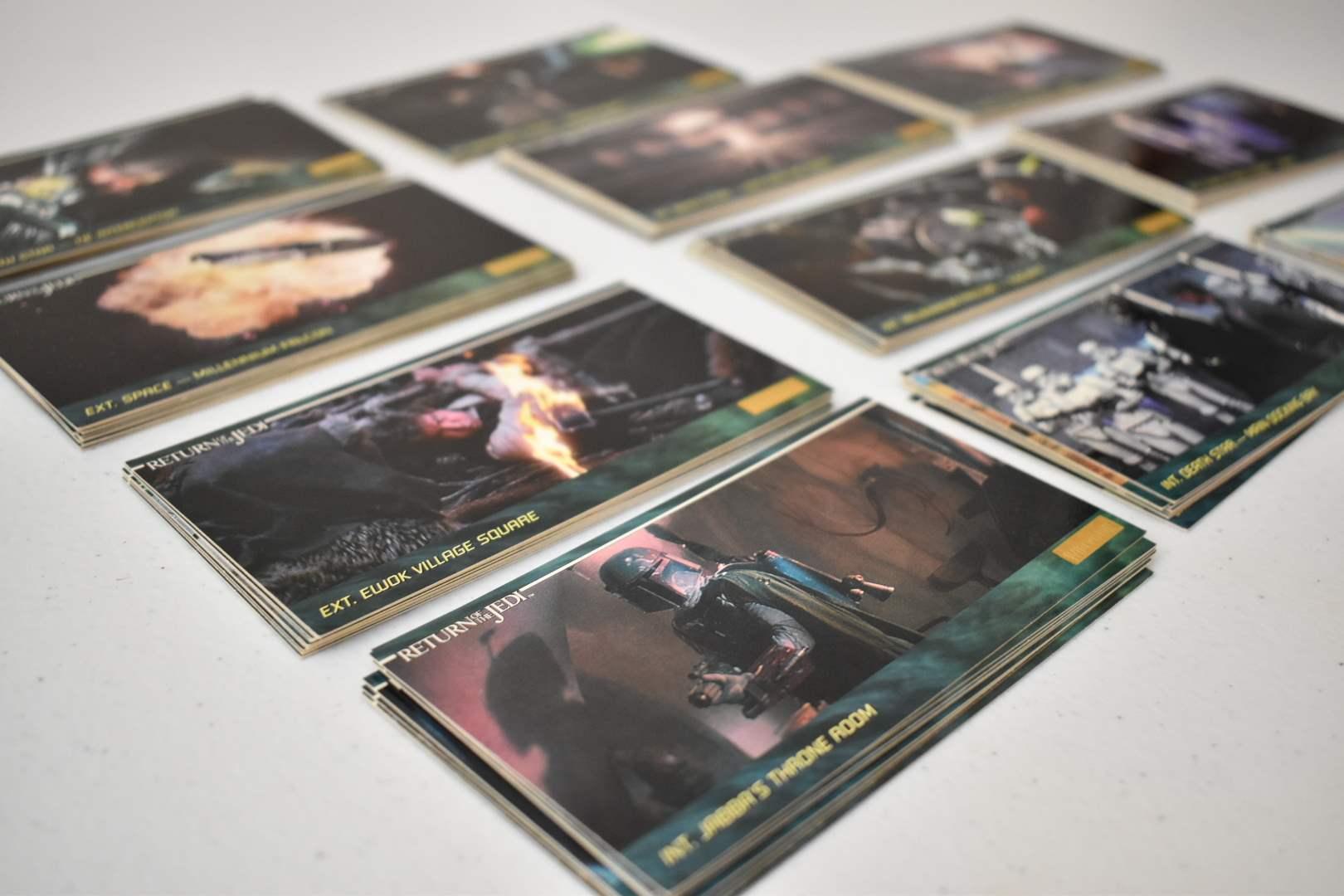 Vintage STAR WARS Return of the Jedi Movie Cards (over 100)