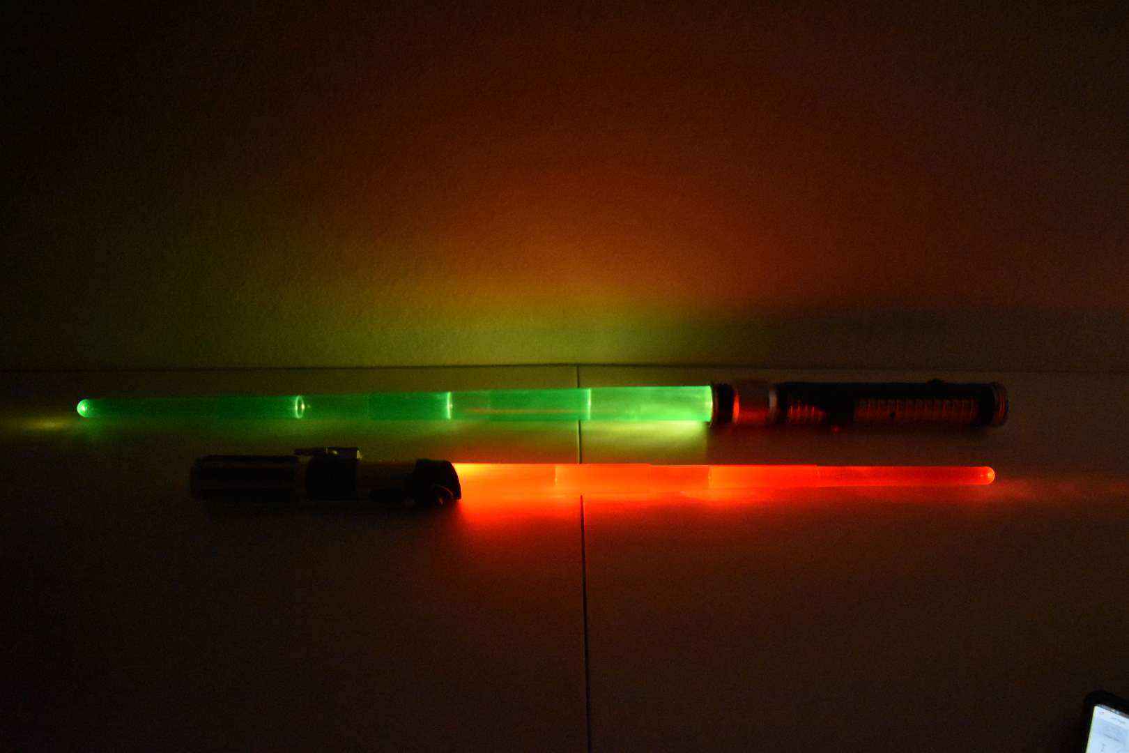 (2) Vintage STAR WARS Lightsabers with Lights, Sounds, and Phrases