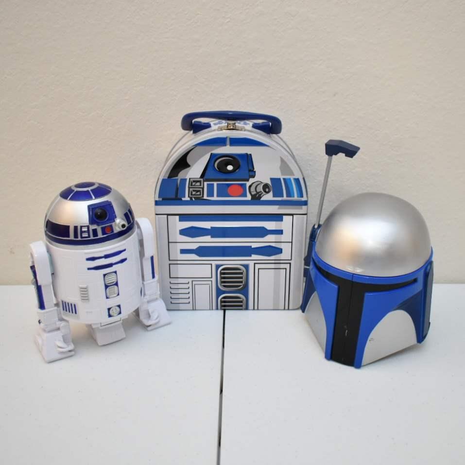 STAR WARS Jango Fett Stein, R2-D2 Lunchbox, R2-D2 Micromachines Playset