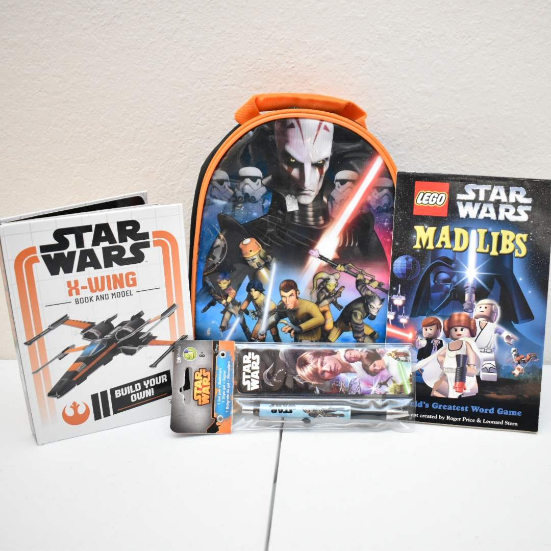 STAR WARS *NEW* Mad Libs, X-Wing Book & Model, Pen & Bookmark, Thermos Lunchbox
