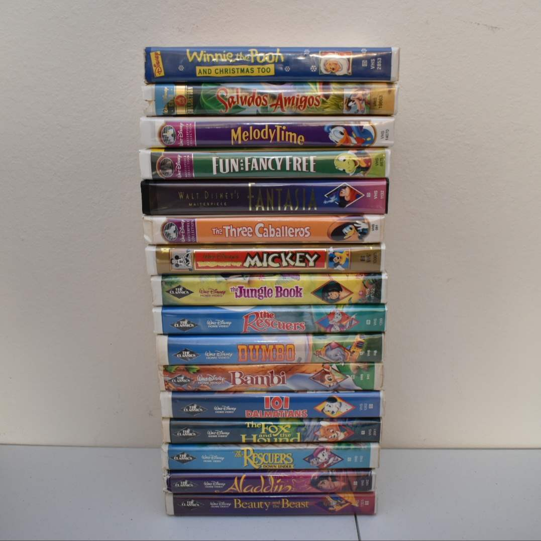 Disney VHS (Mostly Black Diamond Label)
