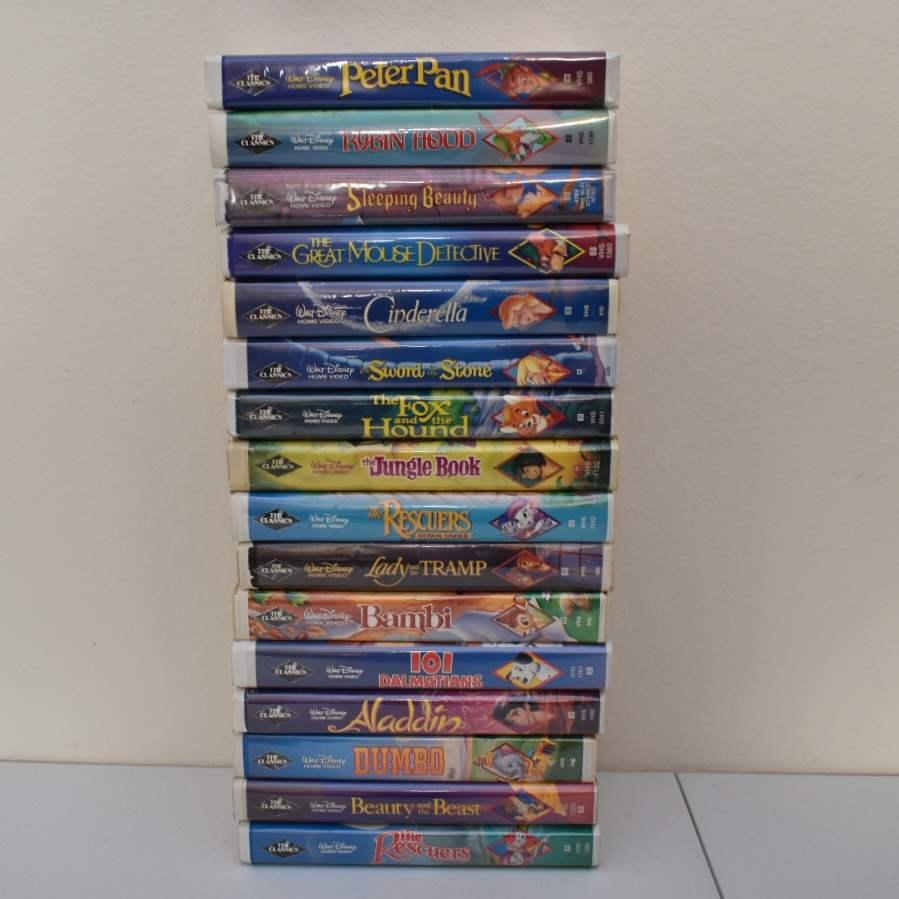 Disney VHS *ALL* Black Diamond Labels