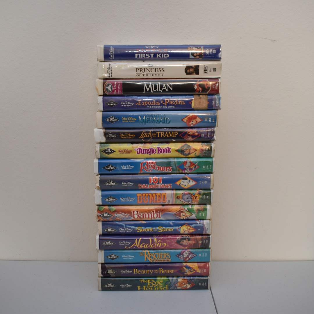 Disney VHS - includes Little Mermaid with BANNED Artwork (Mostly Black Diamond Label)
