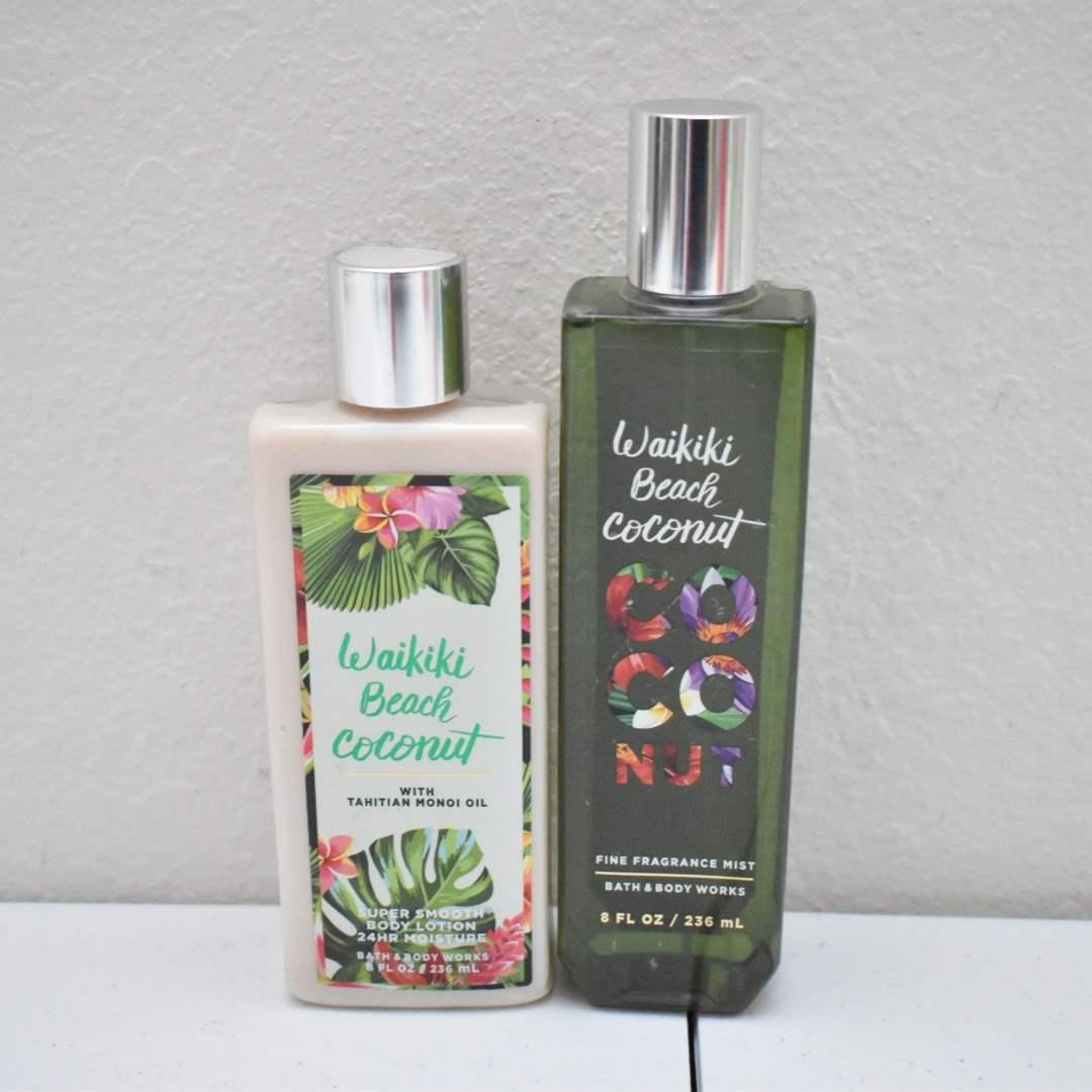 *FULL* Bath & Body Works Spray and Lotion: Waikiki Beach Coconut