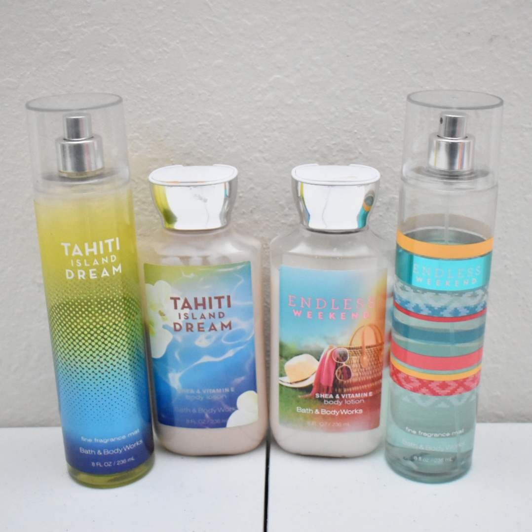 Bath & Body Works Sprays and Lotions: Tahiti Island Dream & Endless Weekend