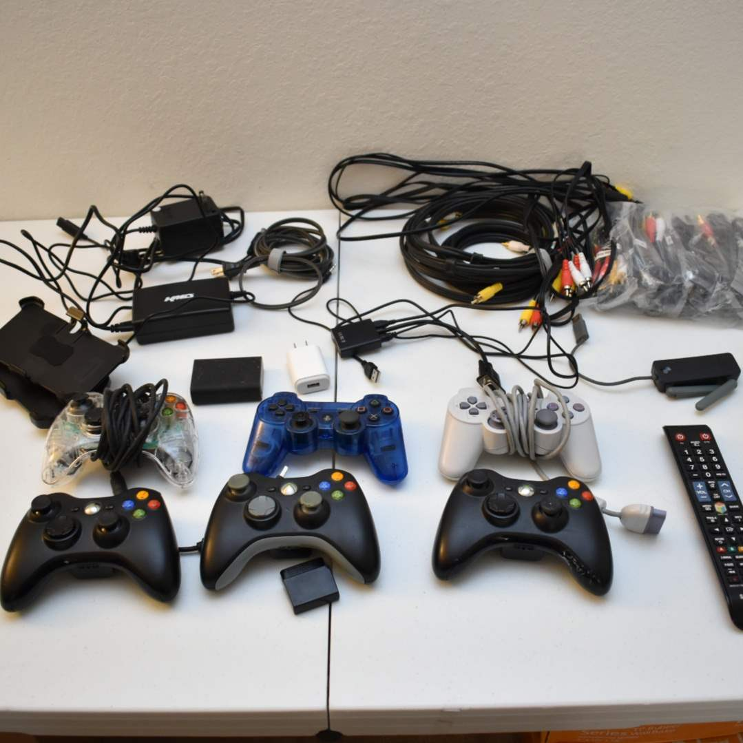 Lots of Misc Cords and Controllers