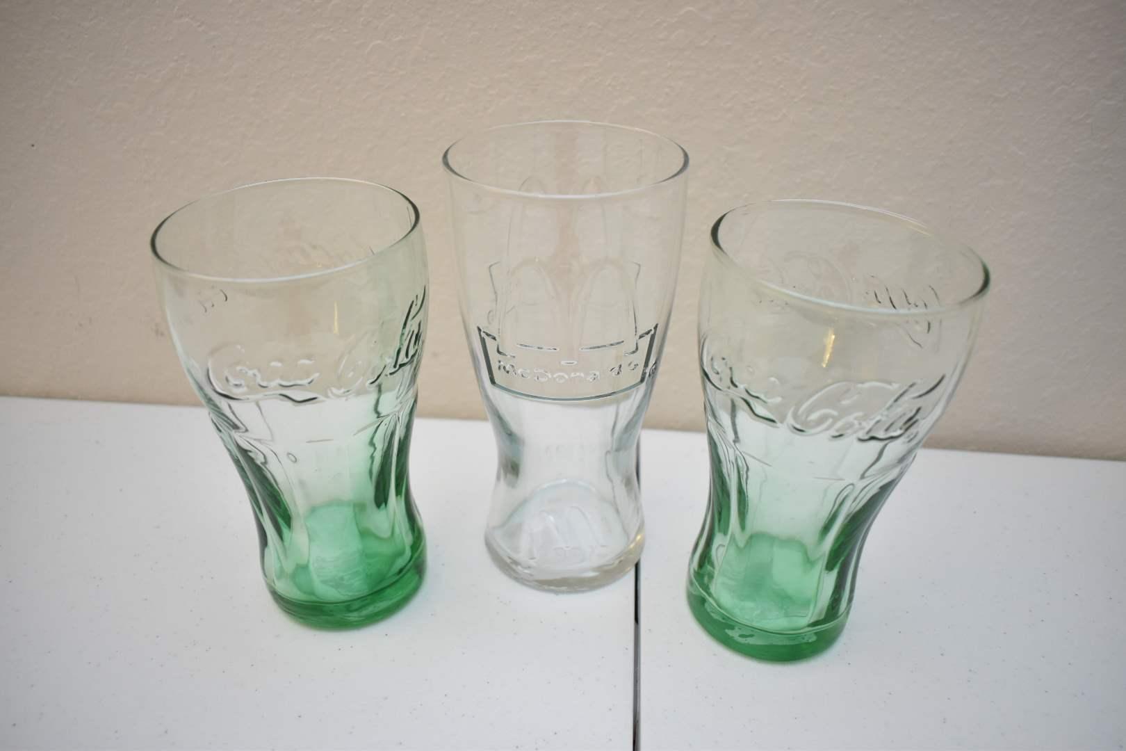Vintage McDonald's and Coca-Cola Glass Cups
