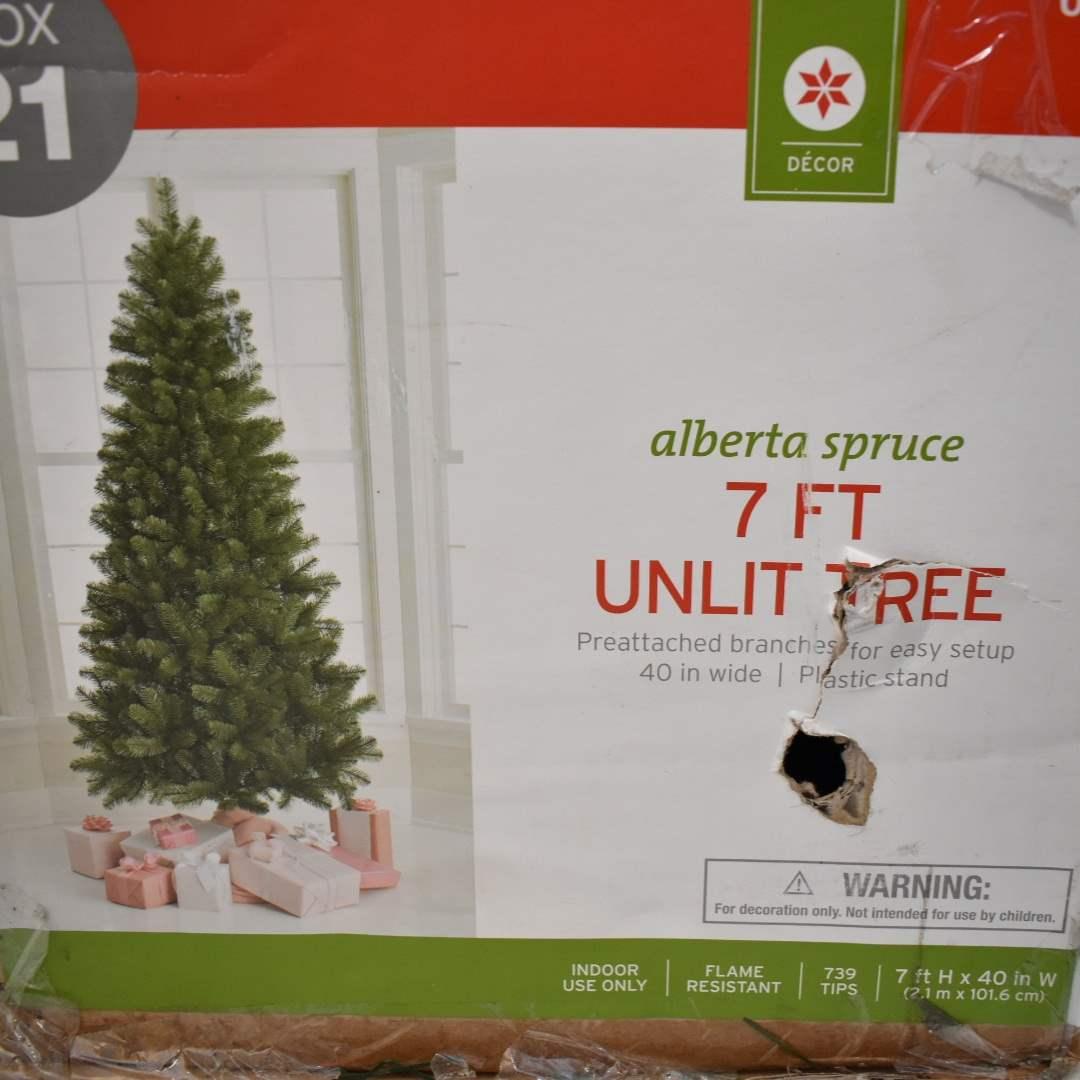 7' Artificial Christmas Tree (Unlit)
