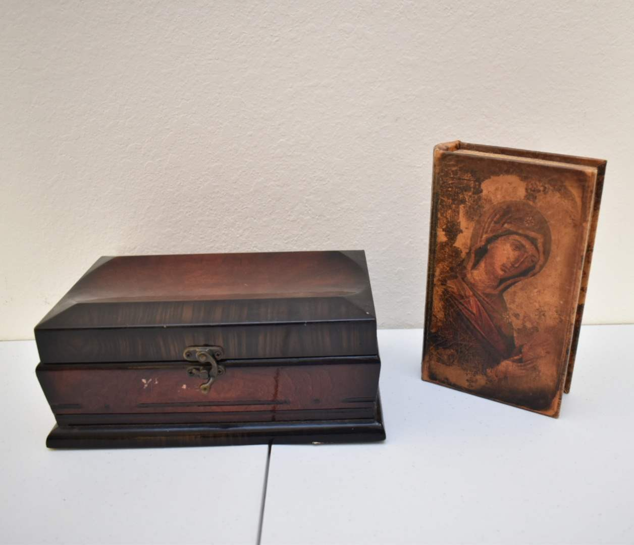 (2) Decorative Boxes, One Disguised as a Book