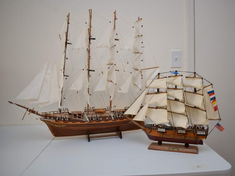 (2) Decorative Ships