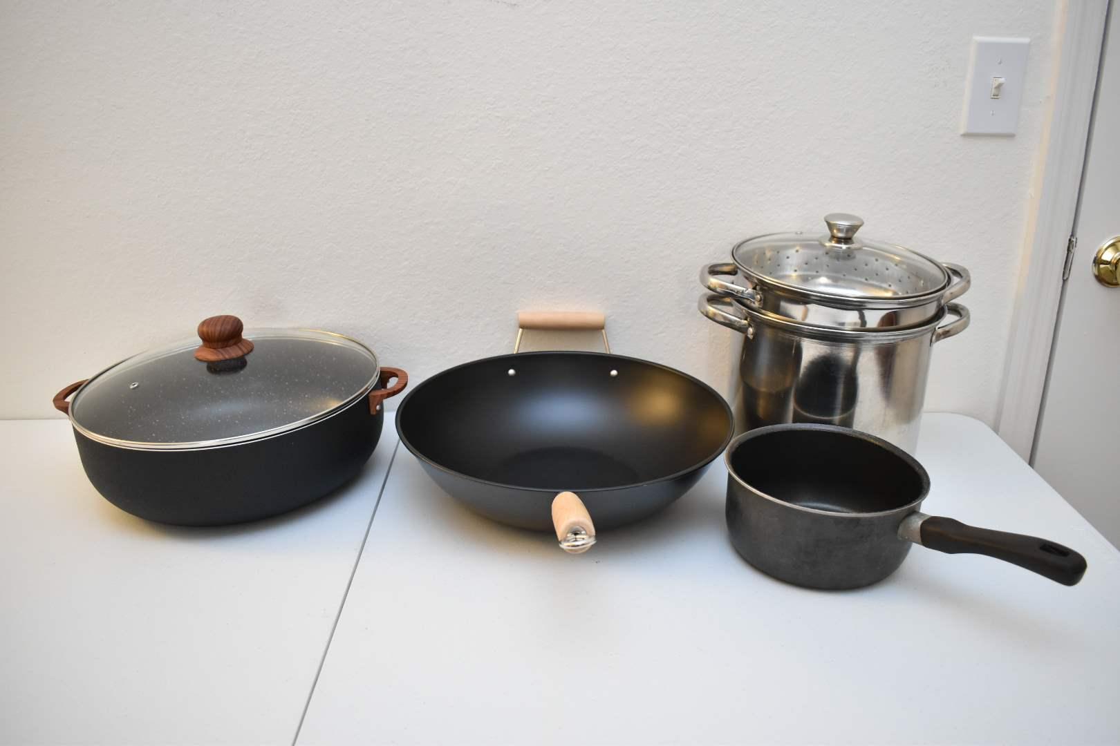 Wok, Steamer, Pots, etc