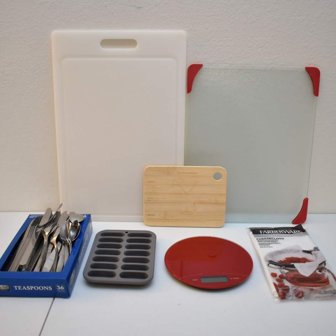 Food Scale, Cutting Boards, Silverware