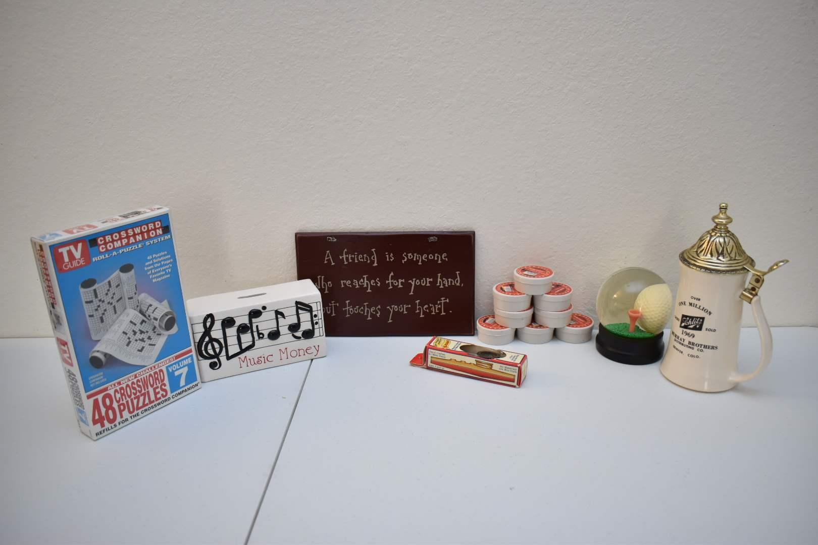 (1600) Sureshot Pellets, NEW Vintage TVGuide Crossword Companion, Vintage Kazoo in Box, Collectibles, Decor,