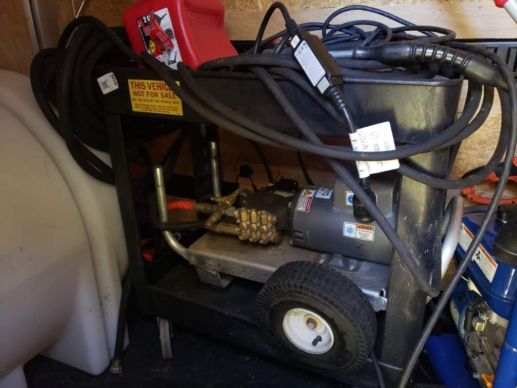 Commercial-Grade Hurricane Electric Pressure Washer with Heavy-Duty Work Cart ($1000+ new)