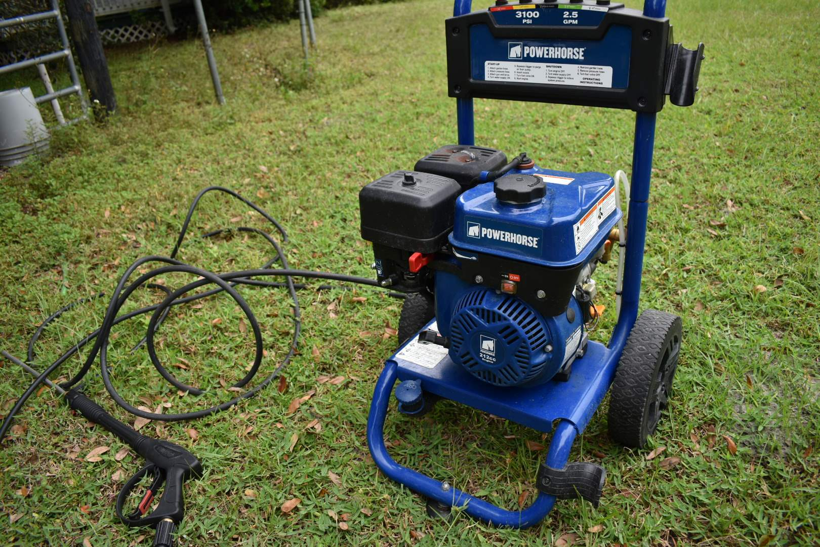 Powerhorse Gas-Powered Pressure Washer with Hose and Gun