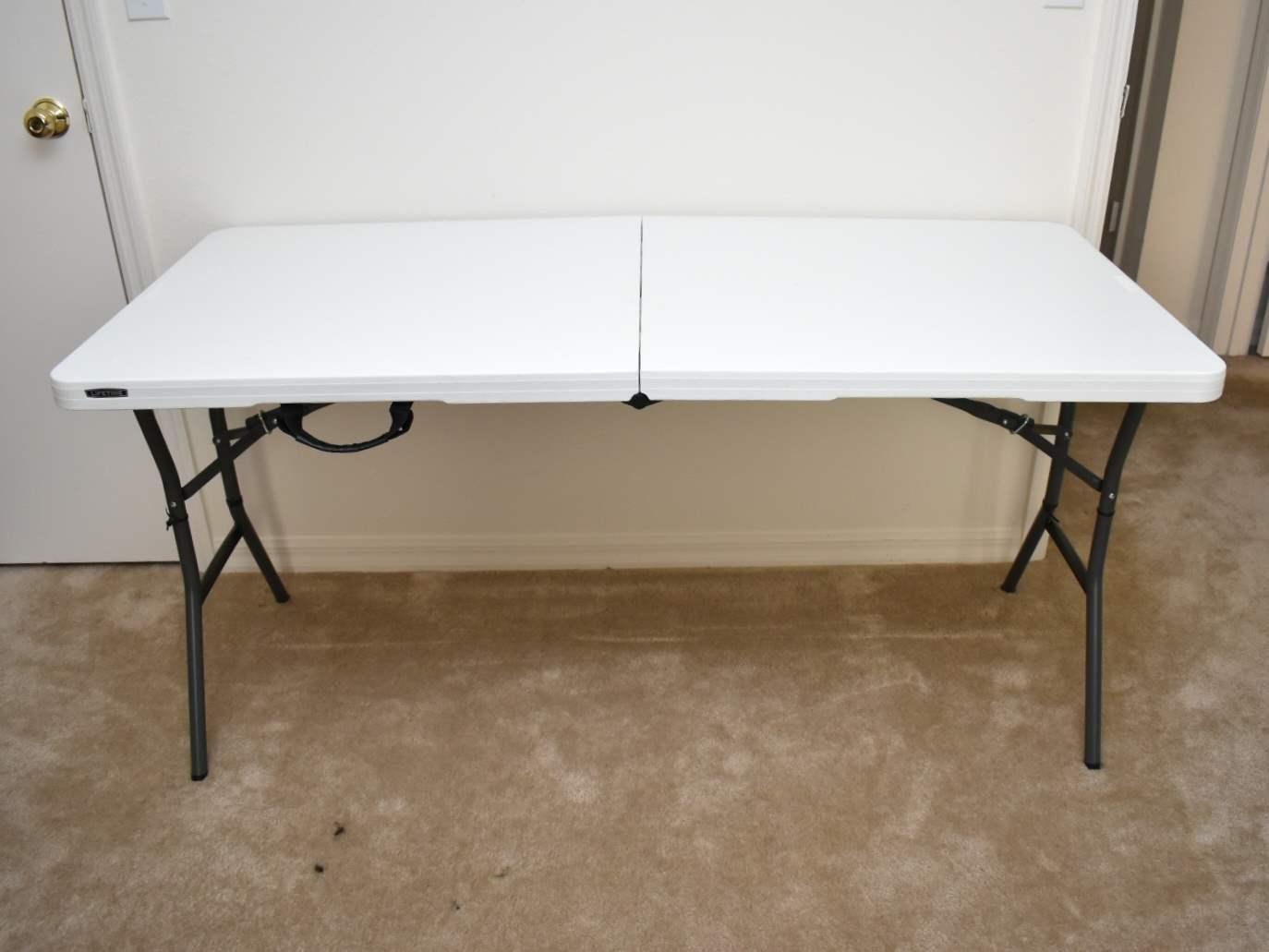 Short White Folding Table