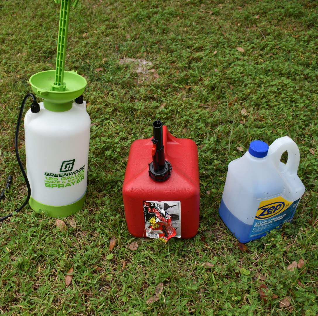 Pressure Washer Liquid, Gas Can, 1.25 Gallon Sprayer