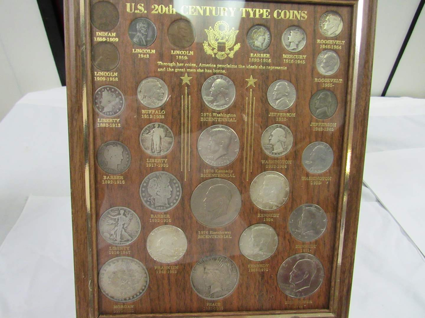 Lot # 121  WOW great display of US Type Coins HIGHLY collectible (ALL coins are guaranteed authentic) (main image)