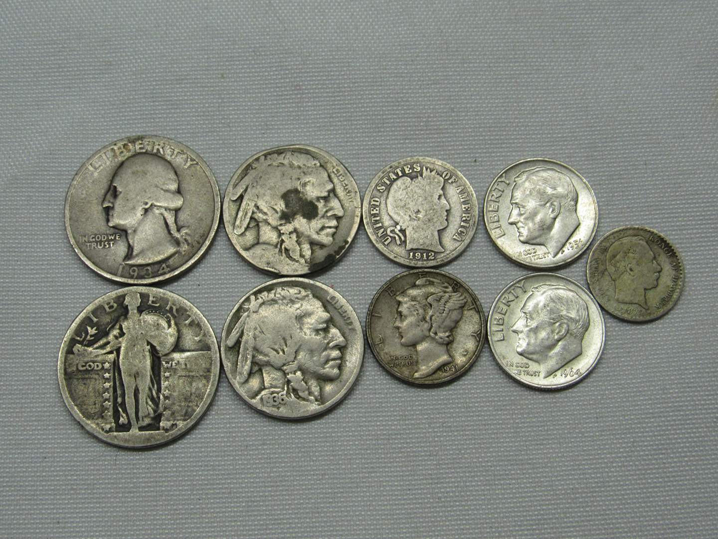 Lot # 140  Nice mix of silver coins etc (main image)