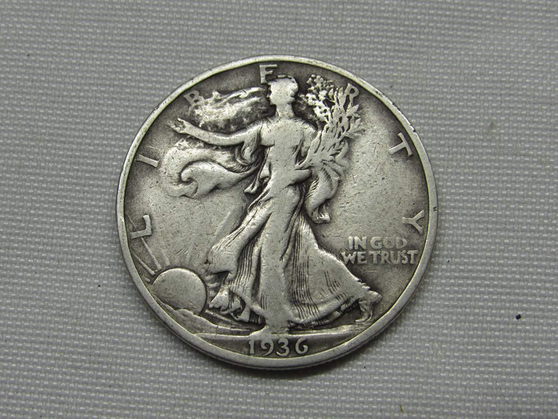 Lot # 142  1936 Walking Liberty half dollar (main image)