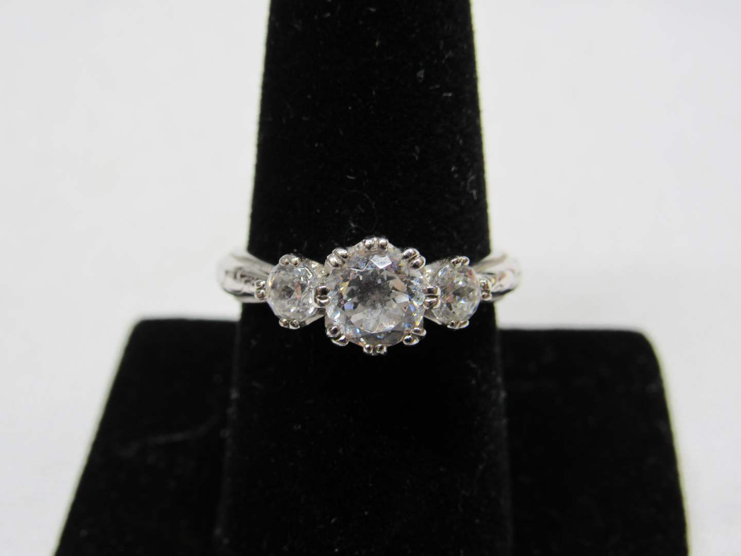 Lot # 202  Sterling silver & CZ TACORI size 8 ring (main image)