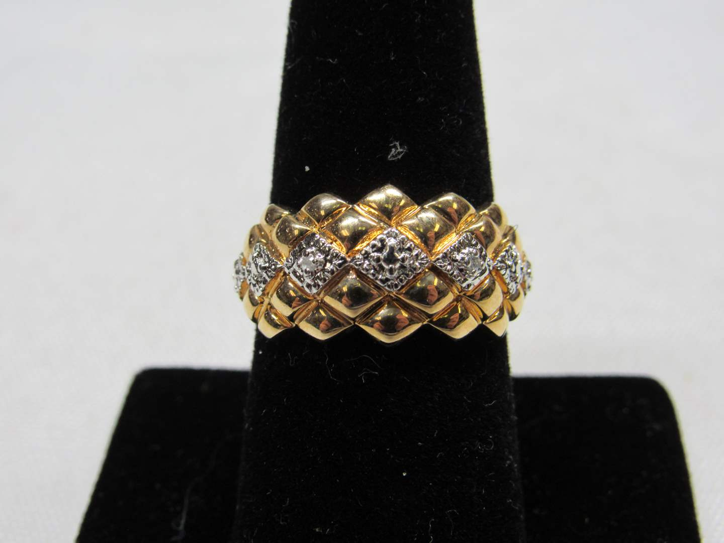 Lot # 219  Gold over sterling silver size 8 ring (main image)