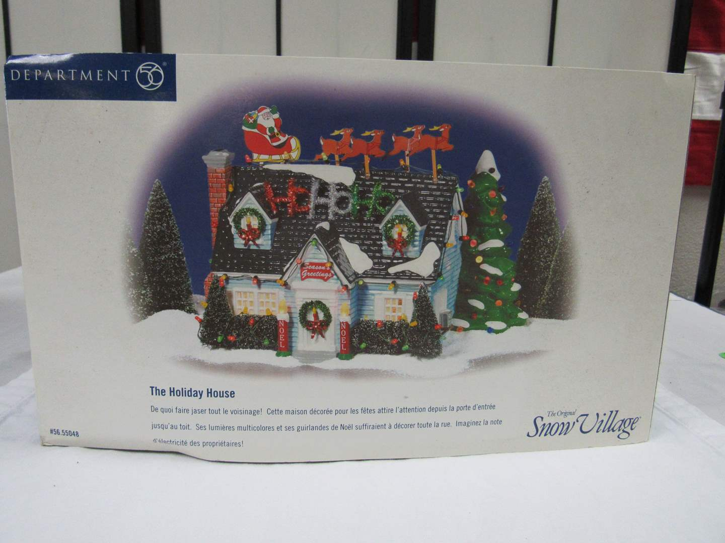 "Lot # 1  Dept 56 Snow Village ""The Holiday House"" complete and perfect condition (main image)"