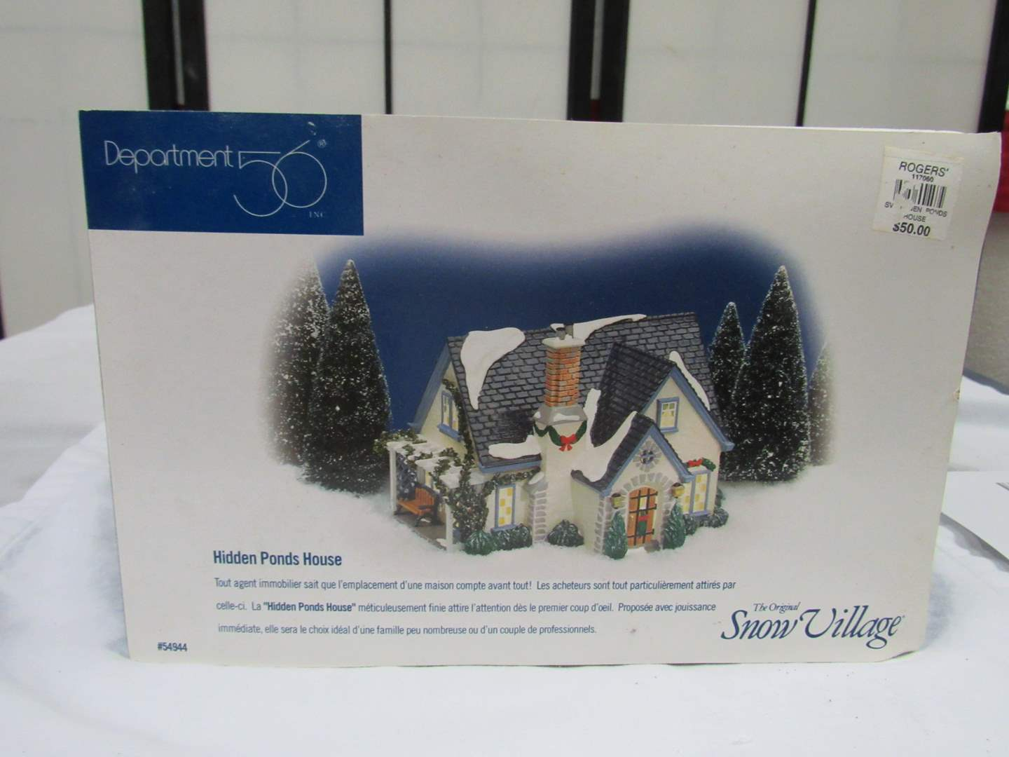 """Lot # 2  Dept 56 Snow Village """"Hidden Pond's House"""" Complete and perfect condition (main image)"""