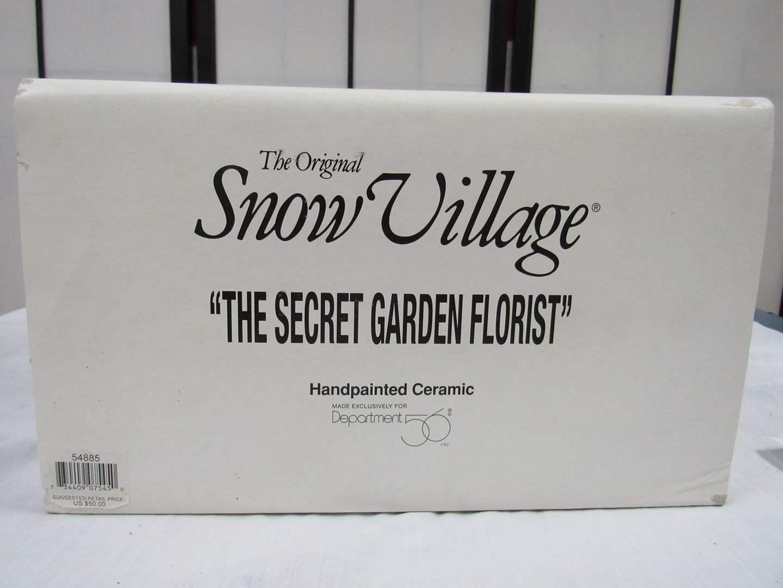 """Lot # 6  Dept 56 Snow Village  """"The Secret Garden Florist"""" No light (house perfect) (main image)"""