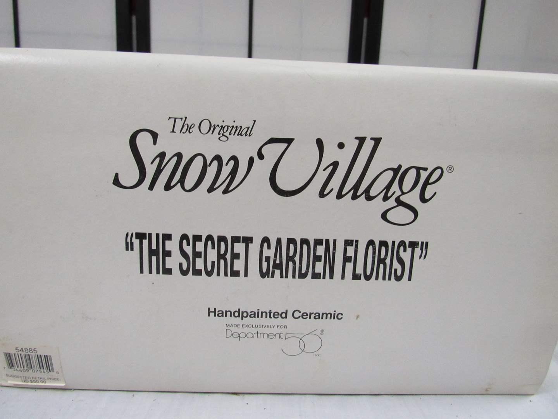 "Lot # 7  Dept 56 Snow Village ""The Secret Garden Florist""  Not light (main image)"