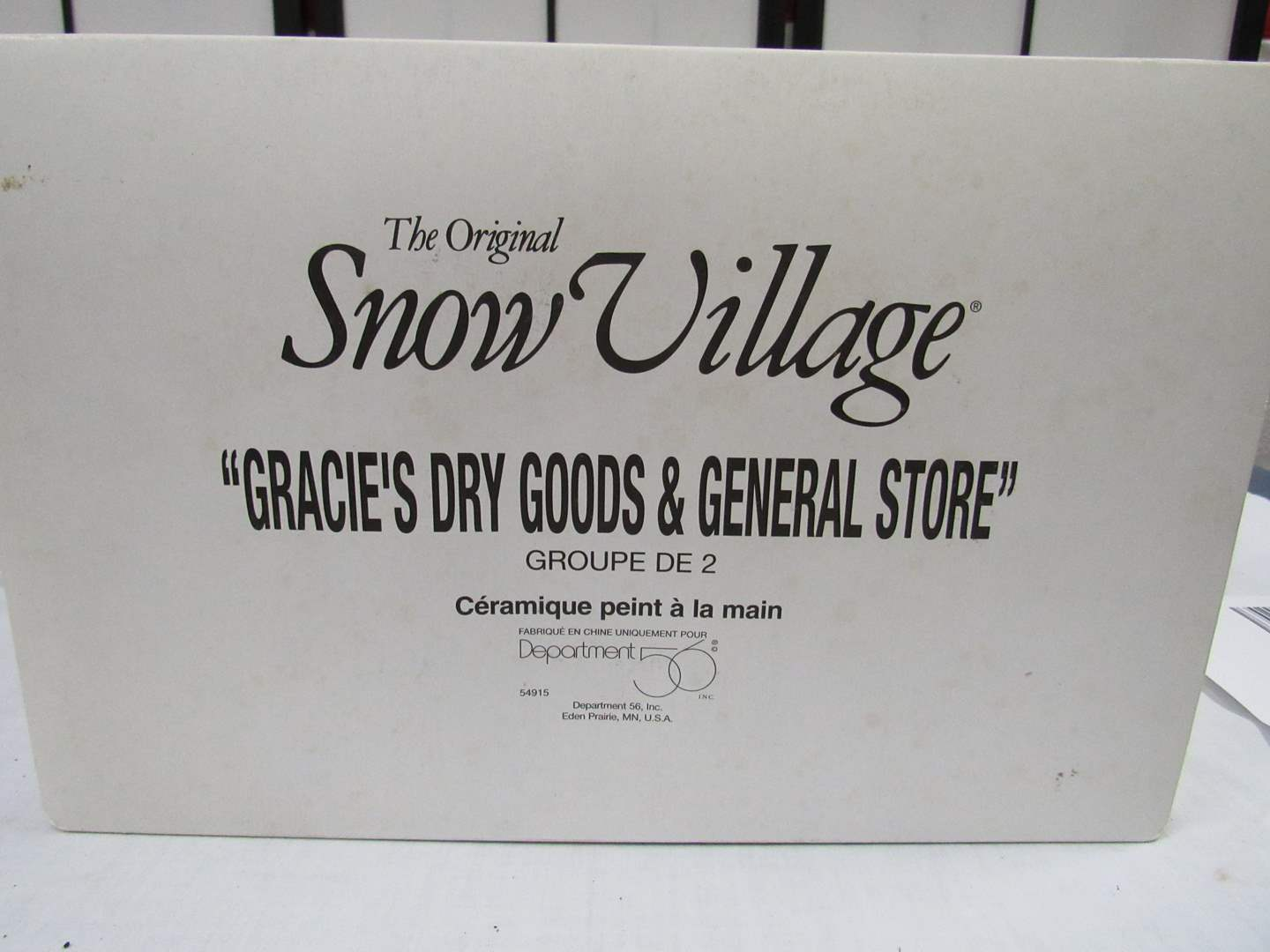 "Lot # 8  Dept 56 Snow Village  ""Grace's Dry Goods & General Store""  No light (main image)"