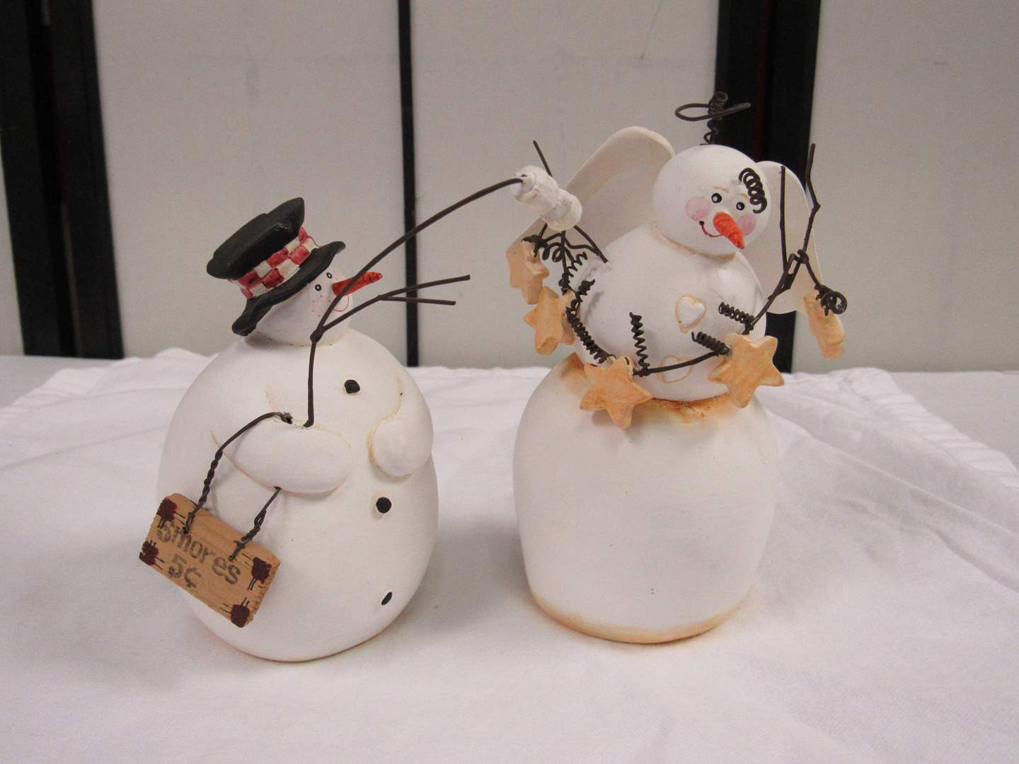 Lot # 31  2 Collectible snowmen  (main image)