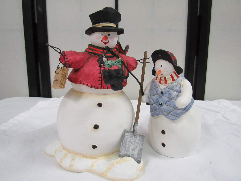 Lot # 30  2 Collectible snowmen  (main image)