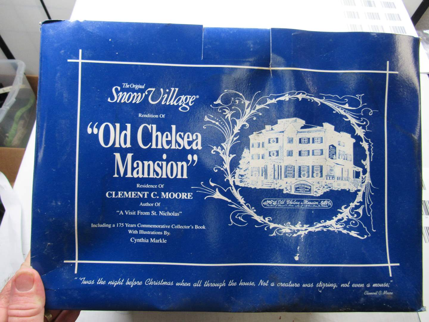 """Lot # 35  Dept 56 """"Old Chelsea Mansion"""" no light & box is rough (house is perfect) (main image)"""