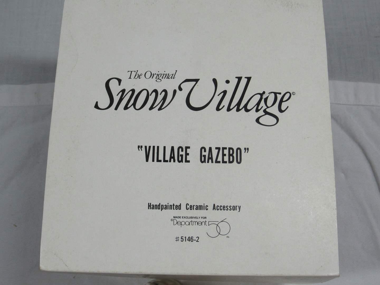 "Lot # 41 Dept 56 Snow Village ""Village Gazebo complete (main image)"