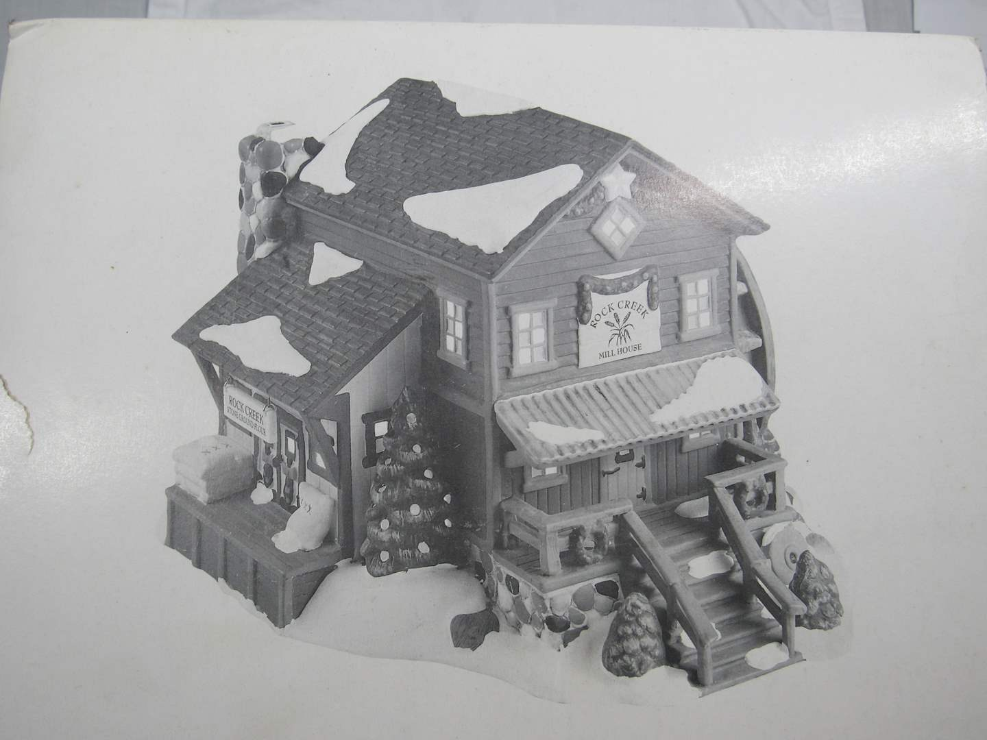 "Lot # 44  Dept 56 ""Snow Village ""Rock Creek Mill House"" no light (main image)"