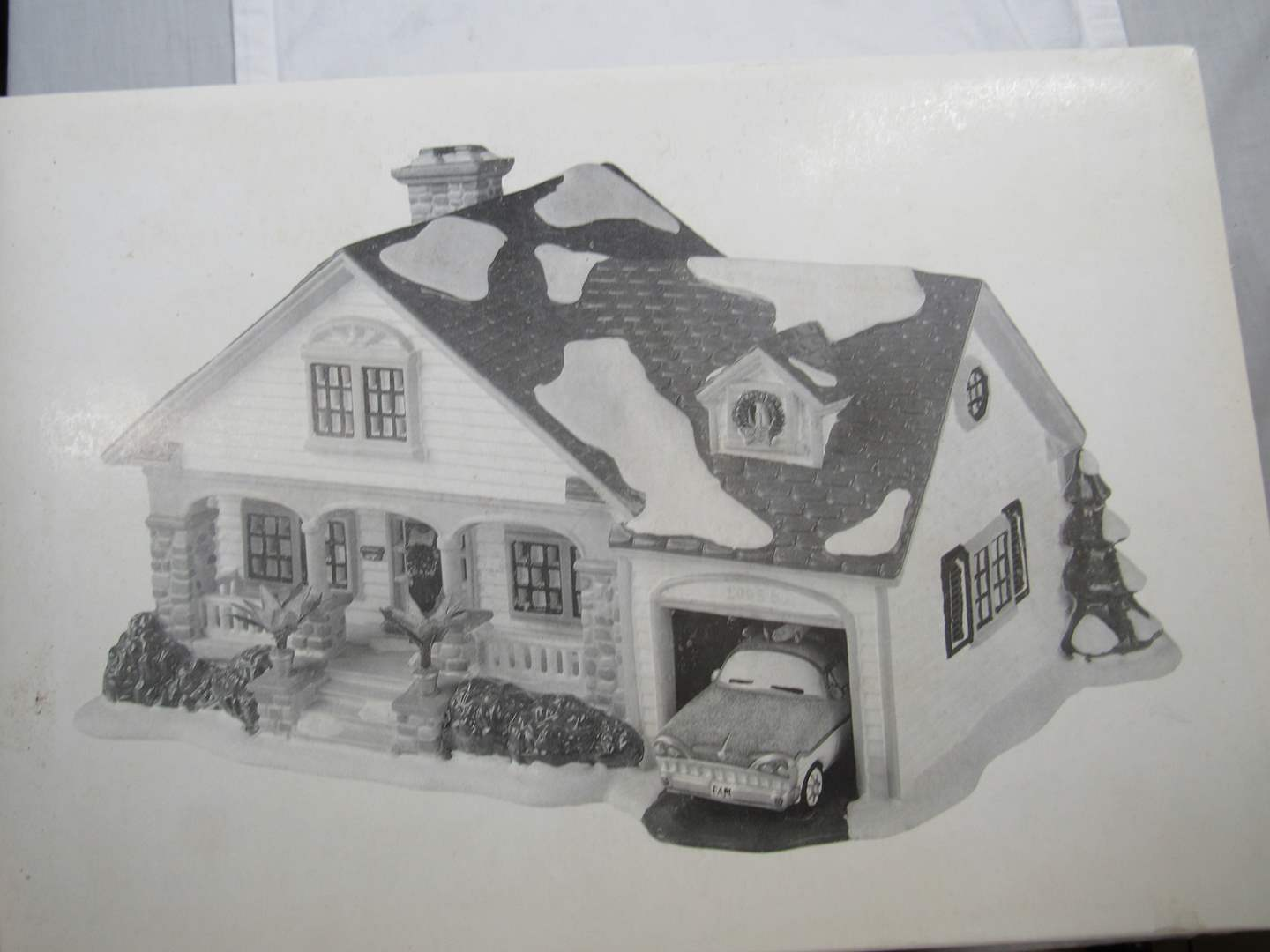 "Lot # 47  Dept 56 Snow Village ""The Brandon Bungalow"" complete (main image)"