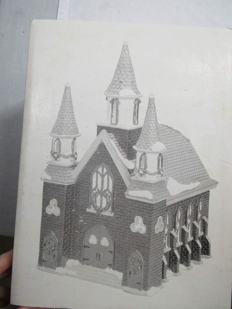 "Lot # 48  Dept 56 Snow Village ""St. Luke's Church"" no light (main image)"