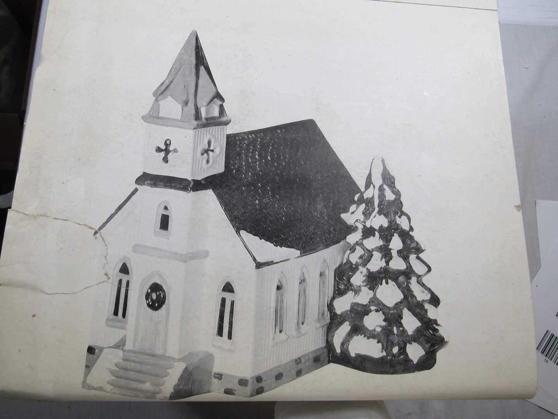 """Lot # 49  Dept 56 Snow Village """"All Saints"""" no light (main image)"""