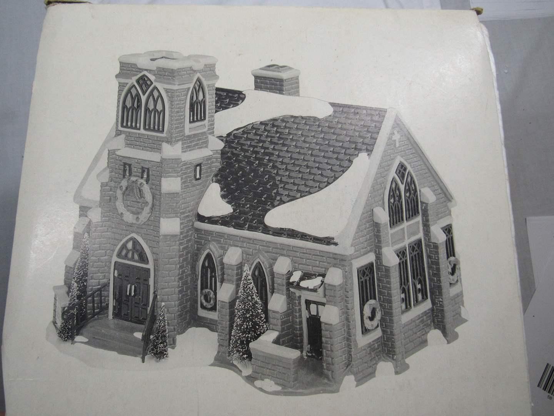 "Lot # 50  Dept 56 Snow Village ""New Hope Church"" complete (main image)"
