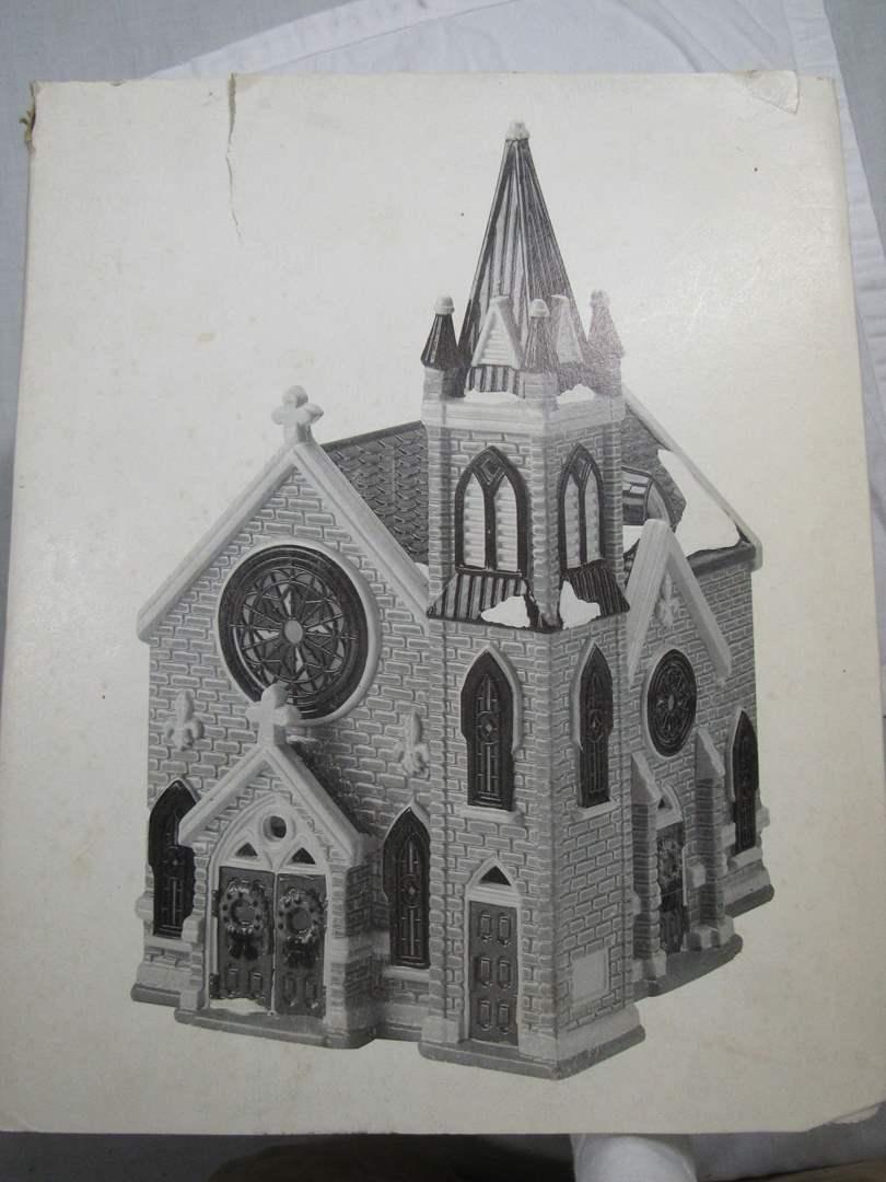"Lot # 51  Dept 56 Snow Village ""Mount Olivet Church"" no light (main image)"