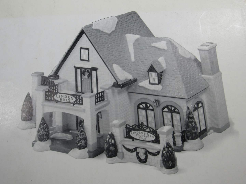 "Lot # 54  Dept 56 Snow Village ""Linden Hills Country Club"" complete (main image)"