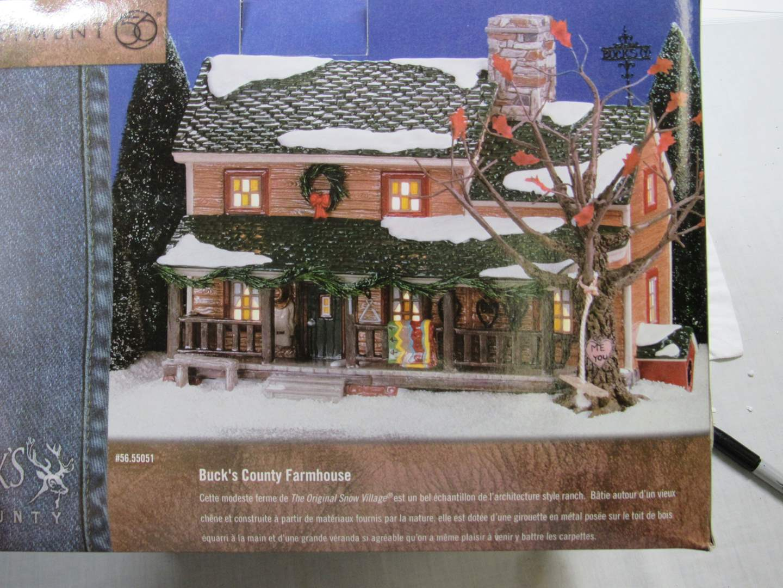 "Lot # 55  Dept 56 ""Buck's Country Farmhouse"" (main image)"