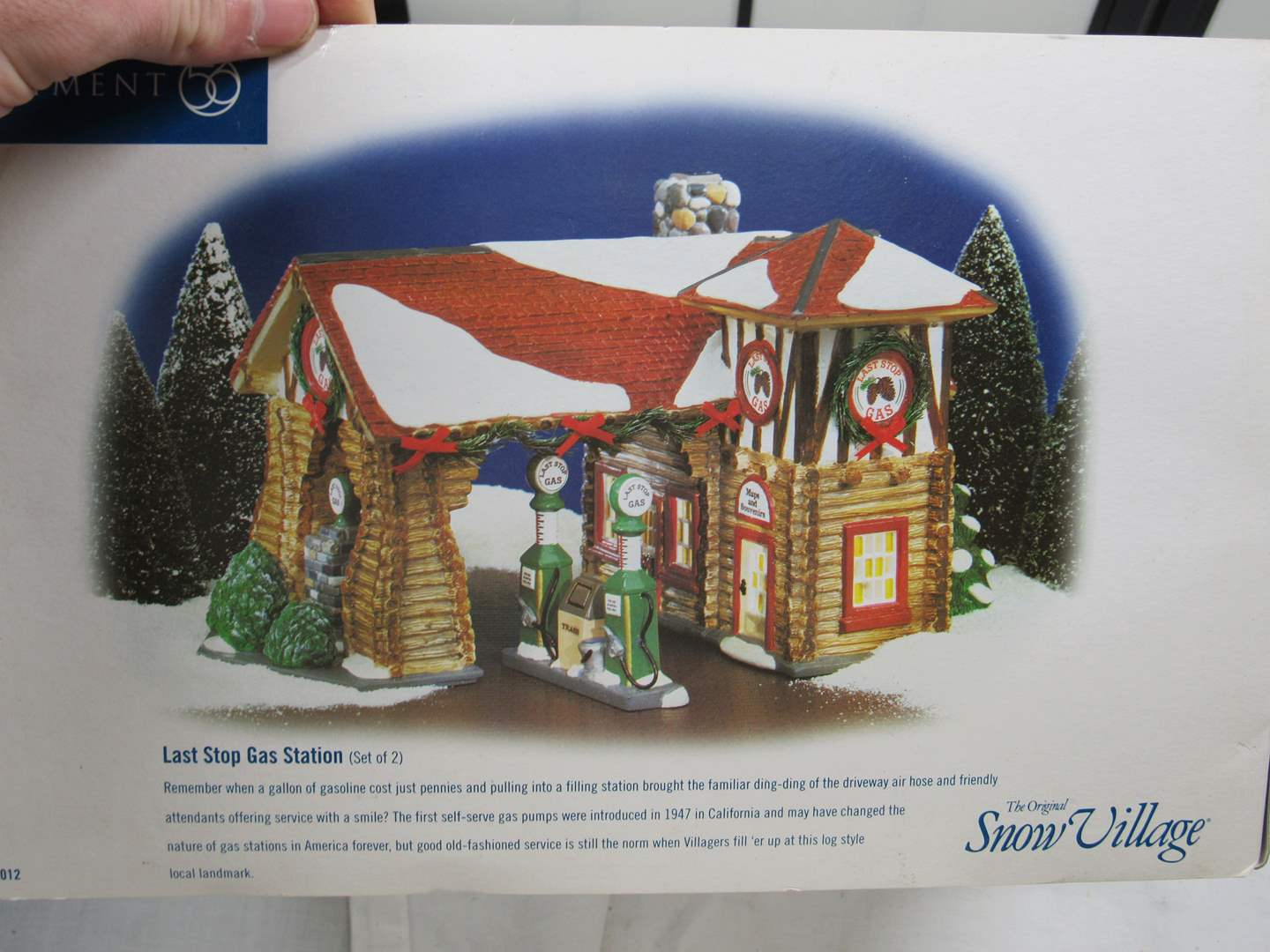 "Lot # 57  Dept 56 ""Last Stop Gas Station"" (main image)"
