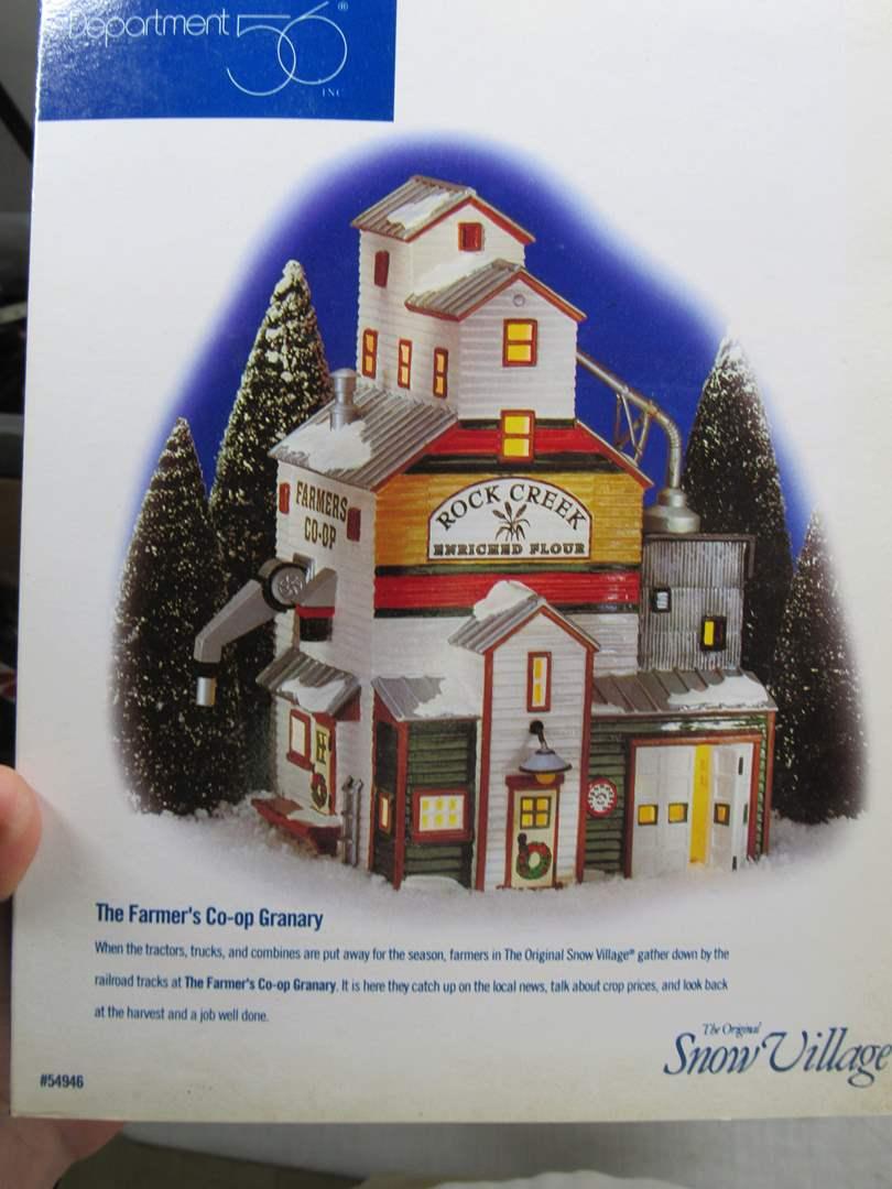 "Lot # 58  Dept 56 Snow Village ""The Farmers Co-op Granary"" no light (main image)"