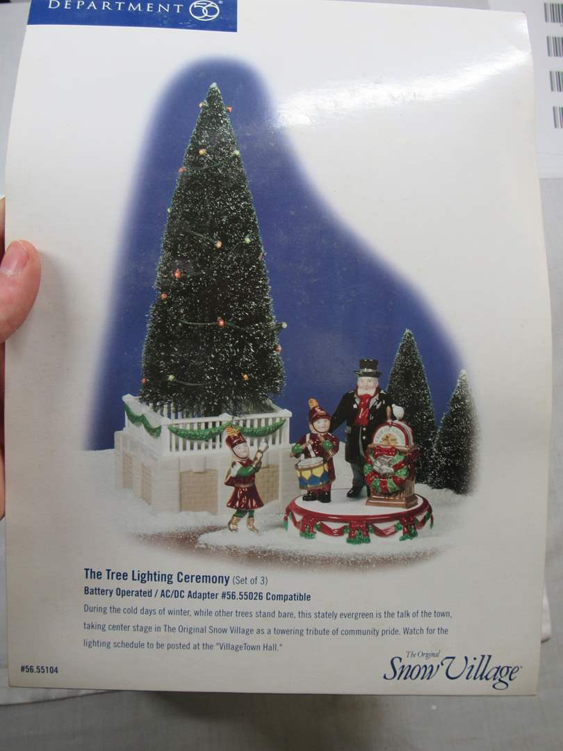 "Lot # 69  Dept 56 Snow Village ""Tree Lighting Ceremony (main image)"